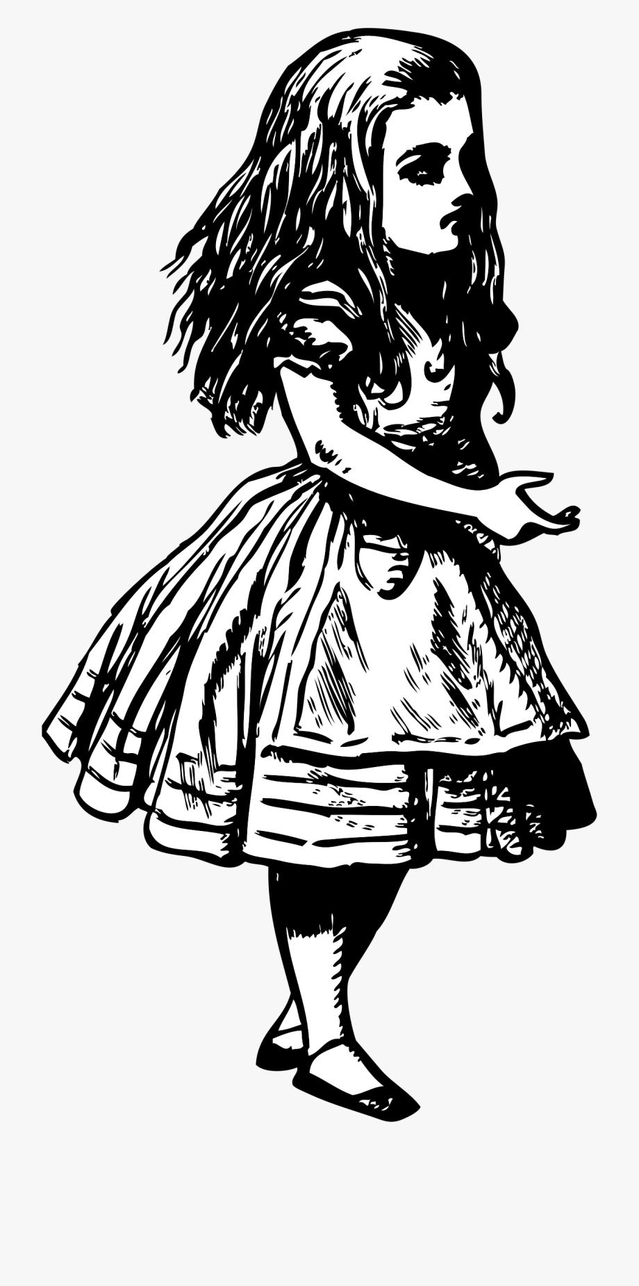 Alice In Wonderland Vintage Clipart.