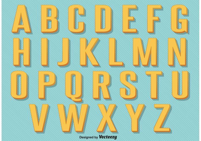 Retro Vintage Alphabet.