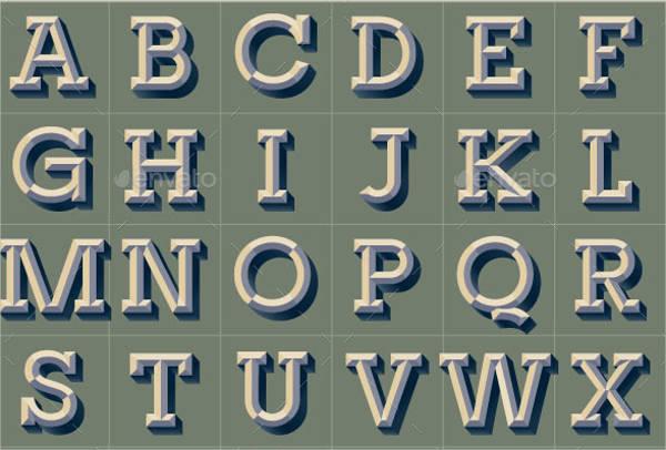 6+ Vintage Alphabet Letters.
