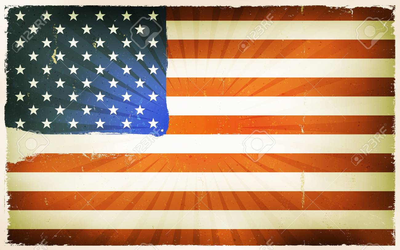 Vintage American Flag Poster Background » Clipart Station.