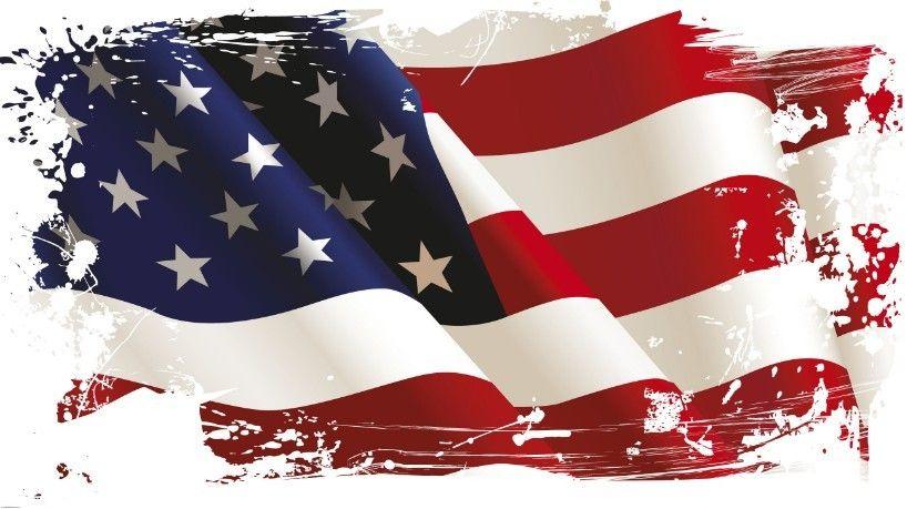 Free Vintage American Flag Design Vector 04.