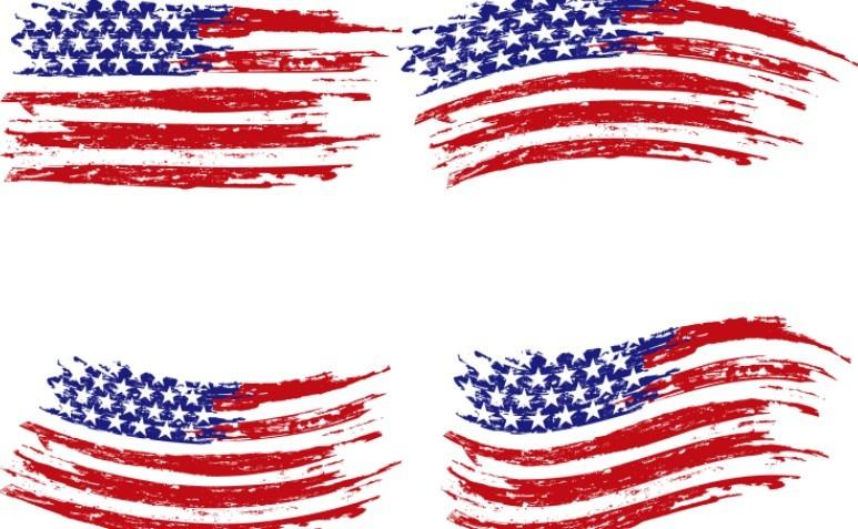 Free Vintage American Flag Design Vector 05   TitanUI.