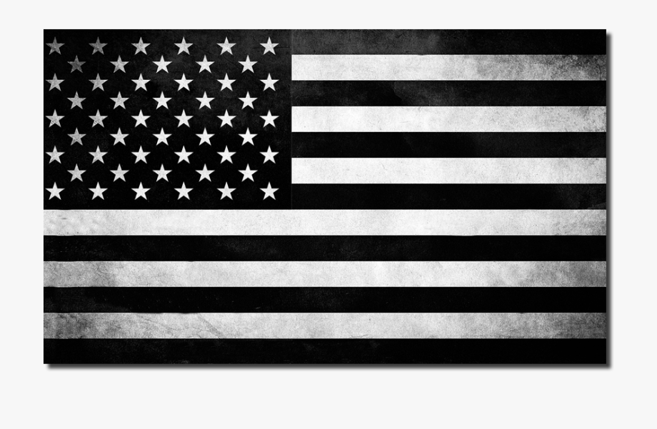 American Flag Black And White Clipart.