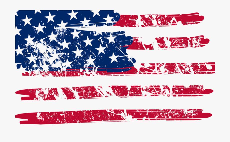 American Flag Png Vintage.