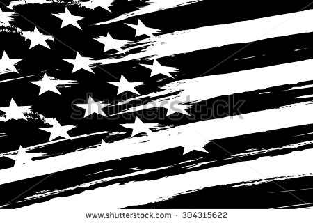 vintage american flag clipart black and white - Clipground