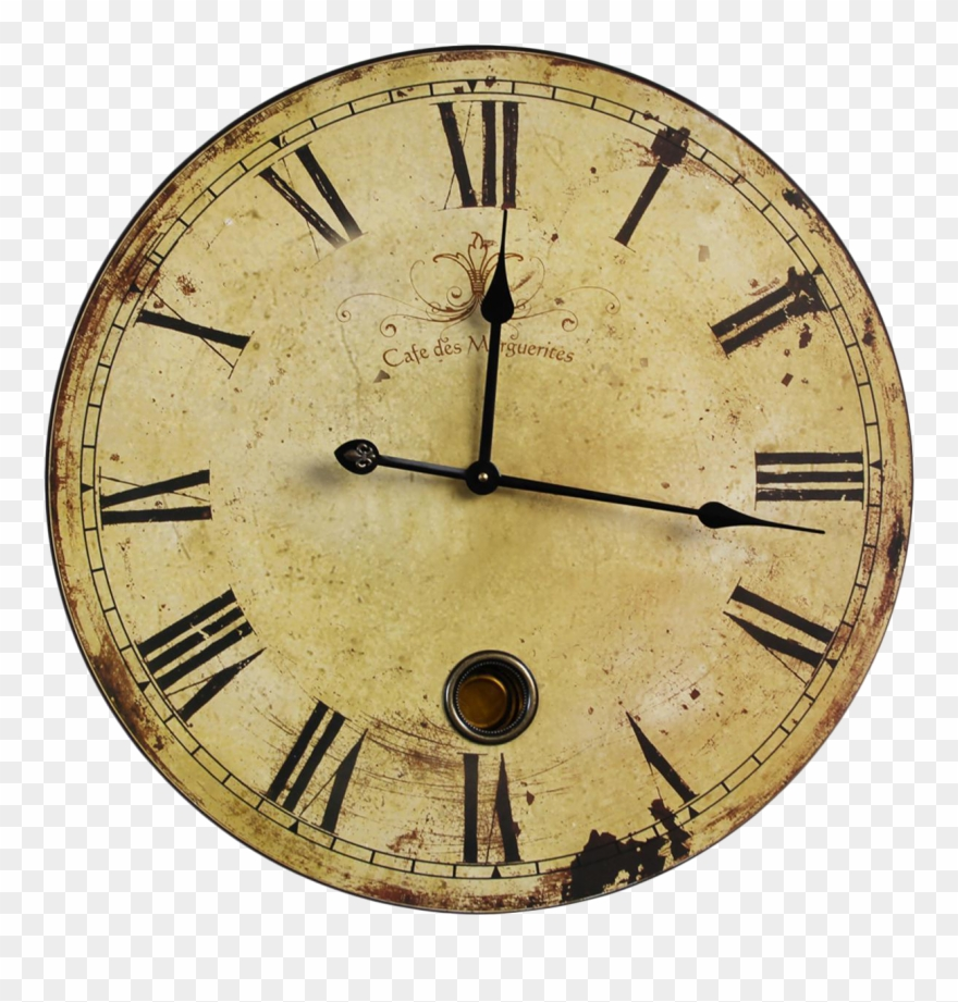 Vintage Wall Clock Png Clipart (#1958223).