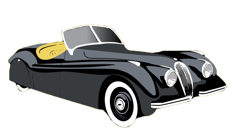 Antique cars clipart