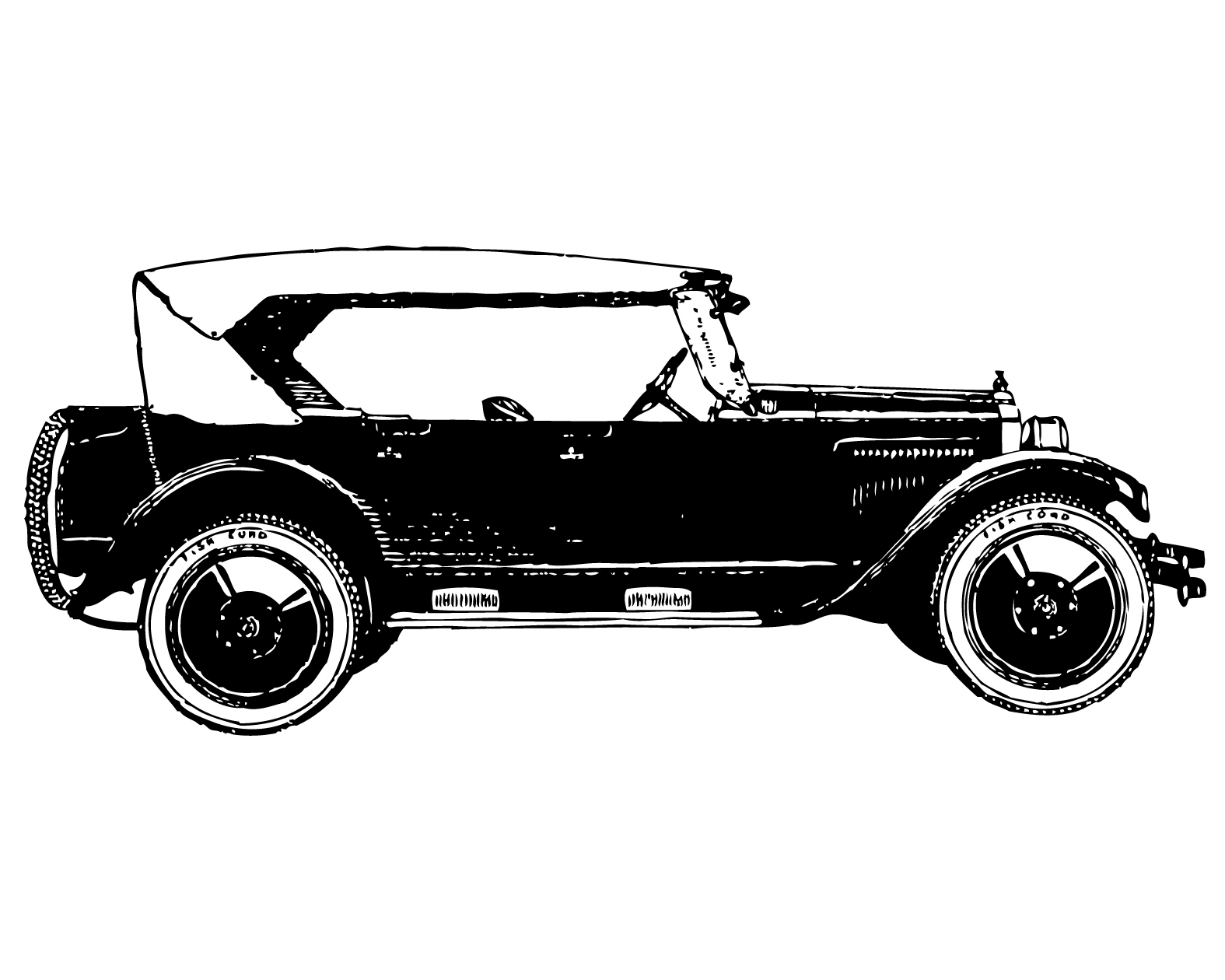 Vintage car clip art.