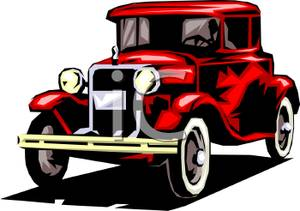 Vintage car free clipart.