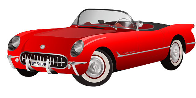 A Bunch Of Classic Cars Driving Clip Art