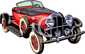 Free vintage car clipart.