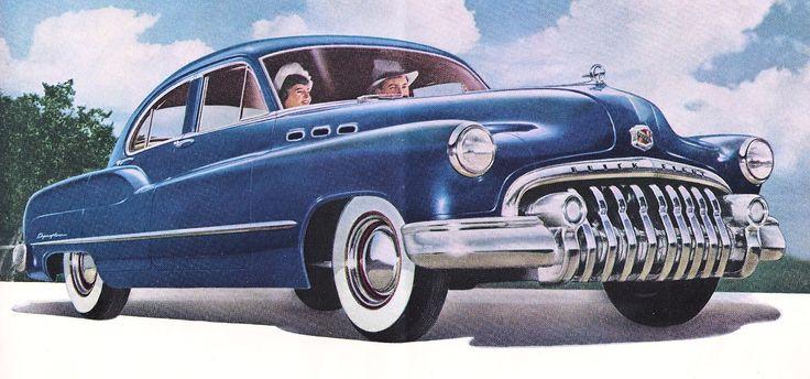 Antique Images: Vintage Car Clip Art: 1950 Buick Dark Blue from.