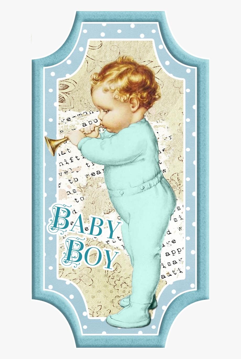 Bebé Retro Para Tarjetas, Toppers O Etiquetas.