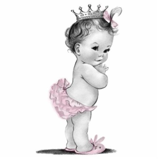 Free download Vintage Baby Girl Clipart for your creation.