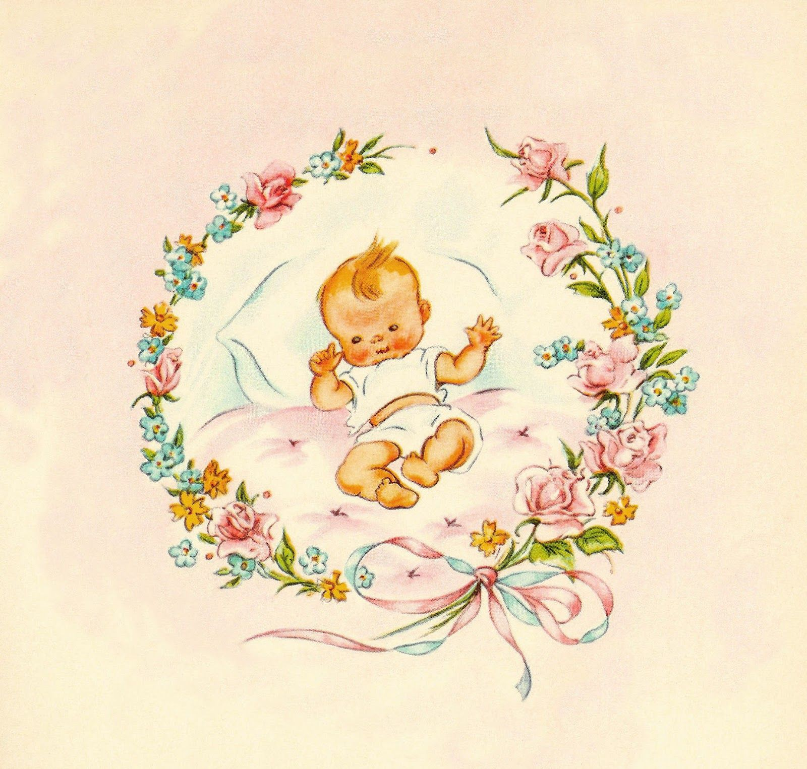 vintage baby shower ideas clipart.