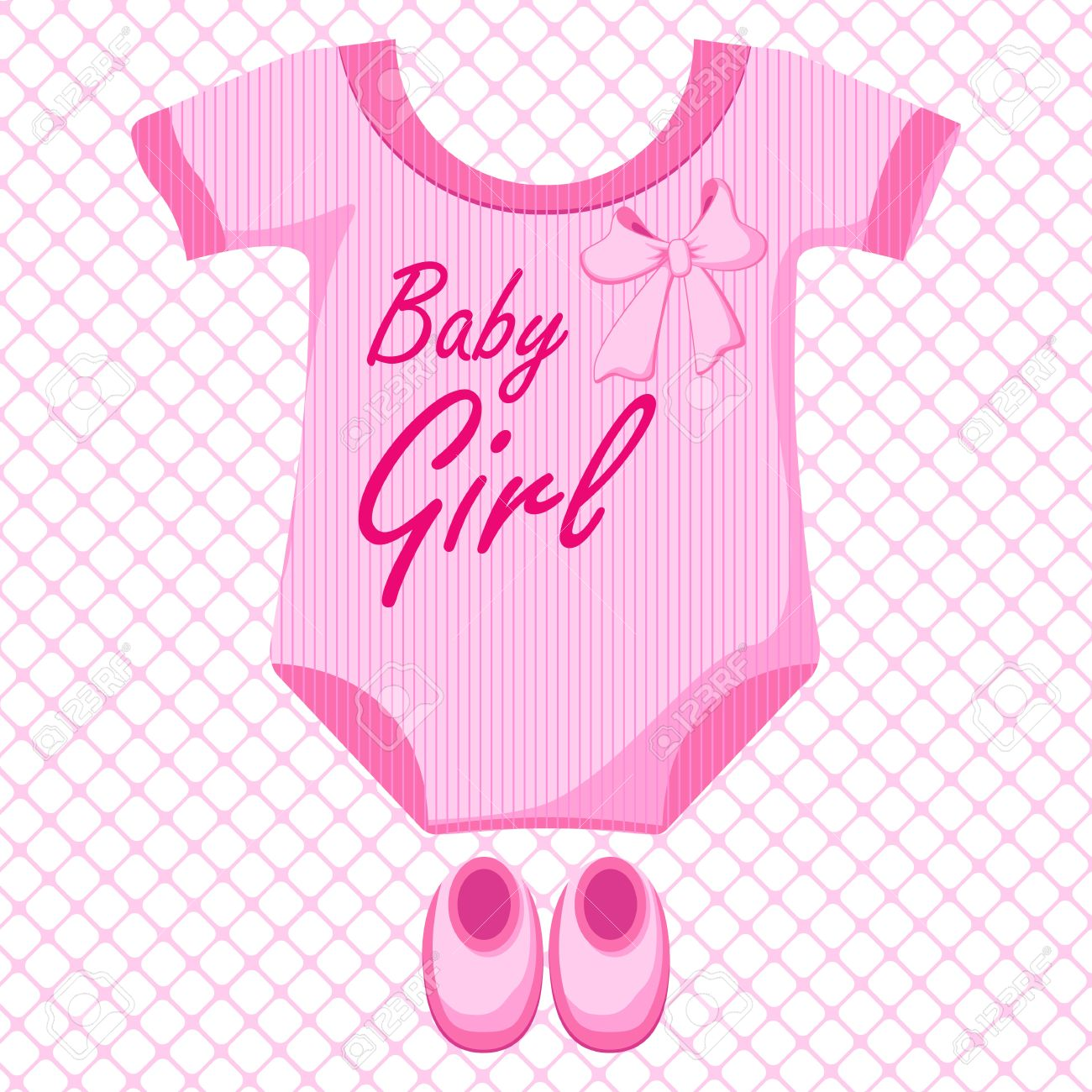 Baby Pink Dress Clipart.