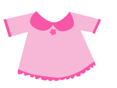 Pink Baby Dress Clipart.
