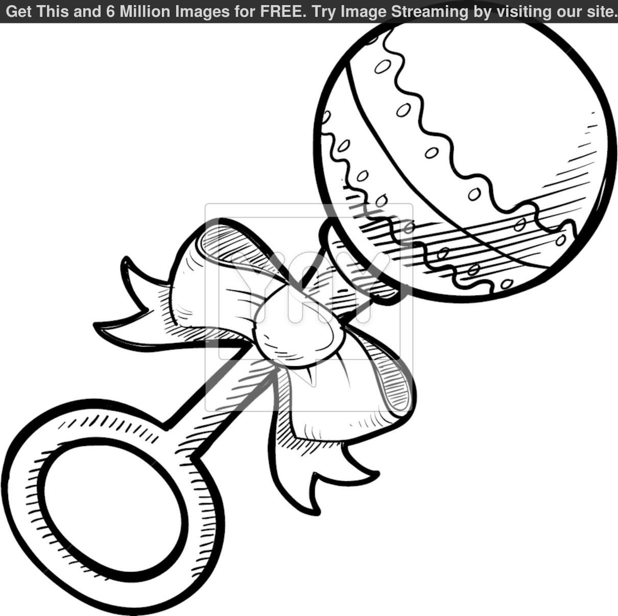 Baby Rattle Clipart.