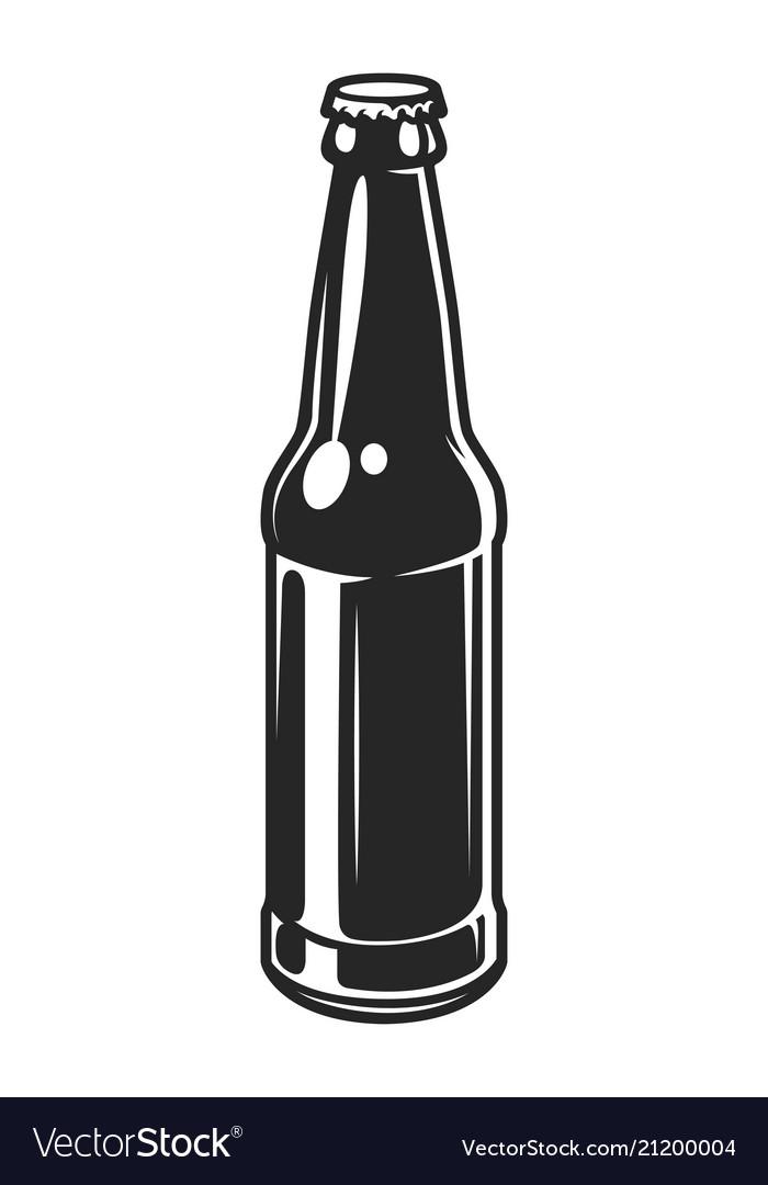 Vintage glass beer bottle template.