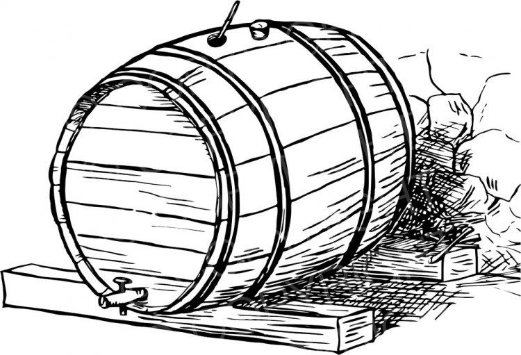 Vintage Beer Barrel.