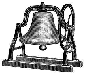 Vintage Christmas Bells Clipart.