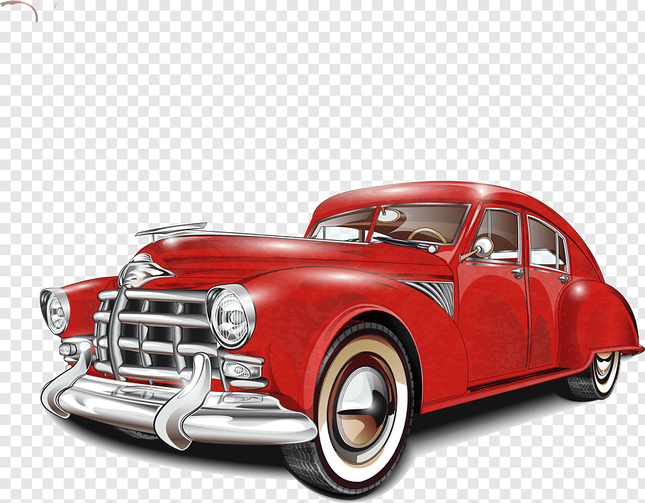 Vintage car Poster Classic car, classic cars, classic red.