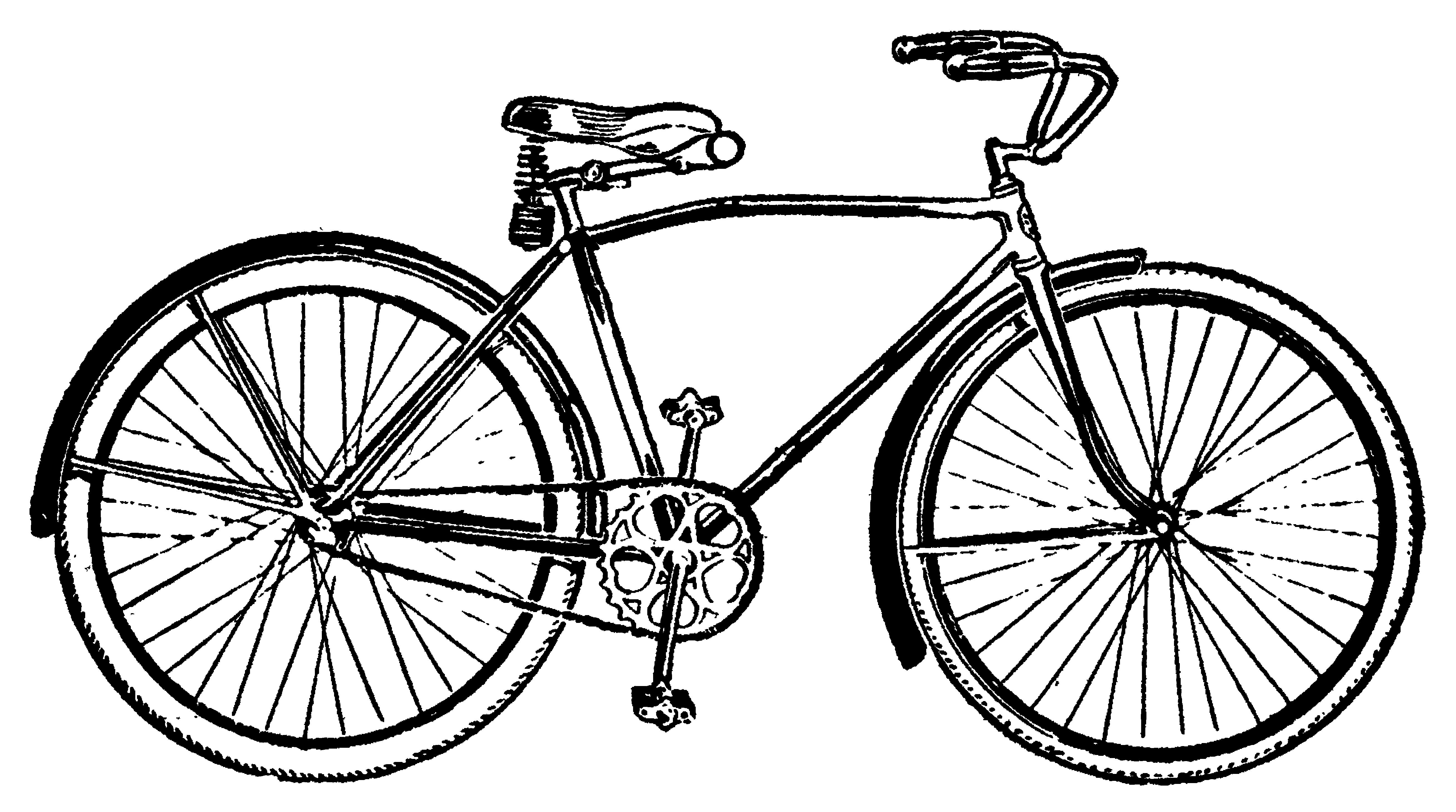 Vintage Bicycle Clip Art.