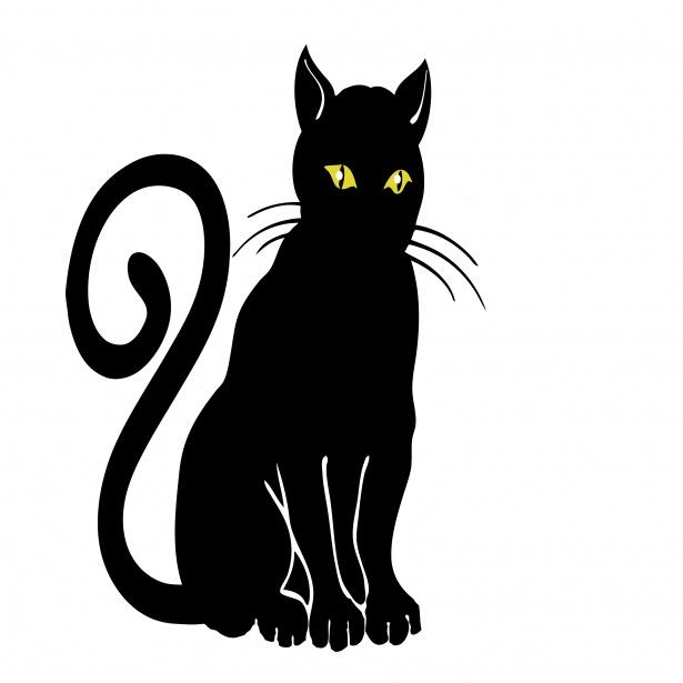 Black Cat Clipart Free Stock Photo.