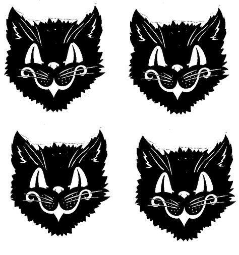vintage black cat printables.