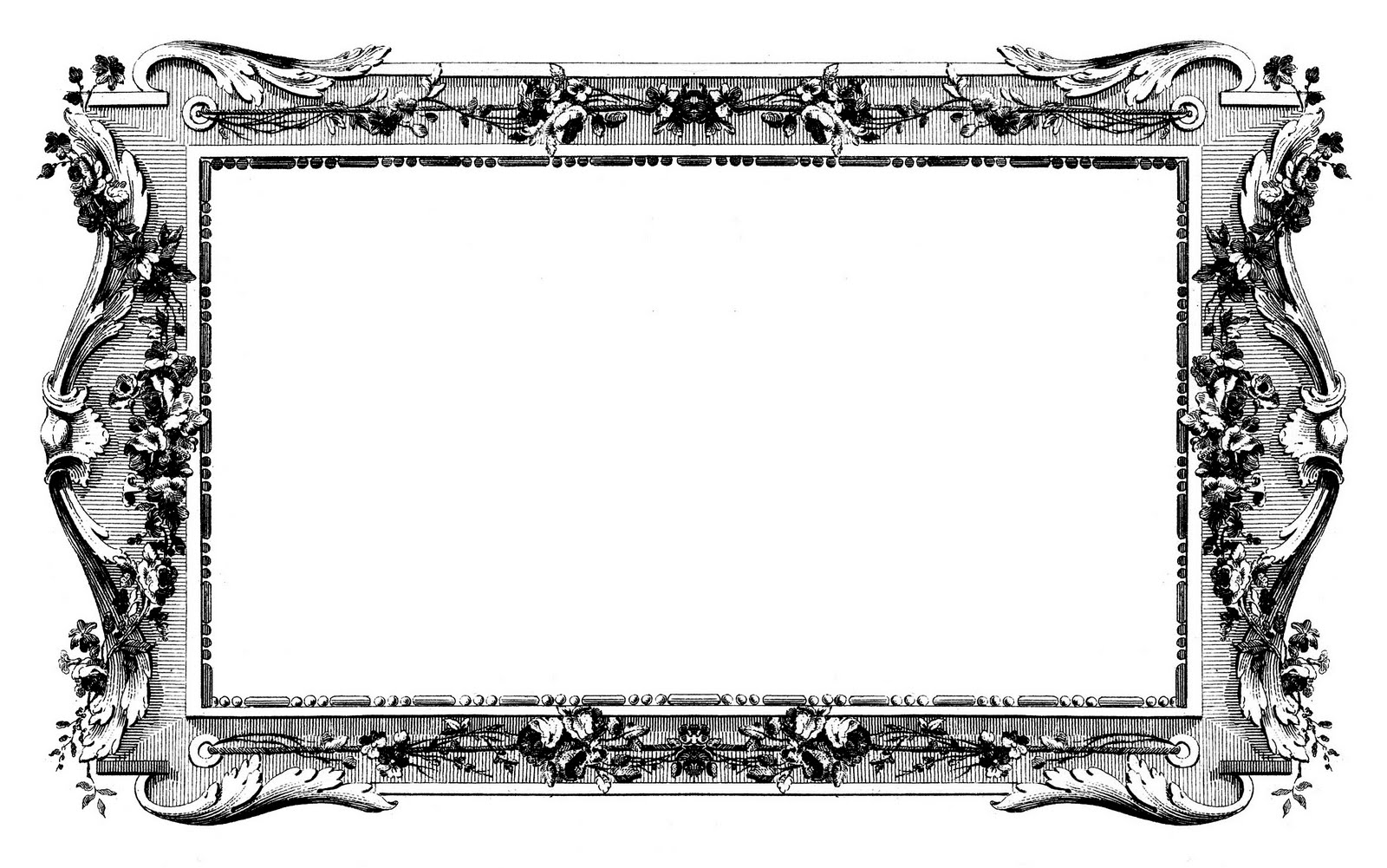 Vintage Black And White Picture Frames.