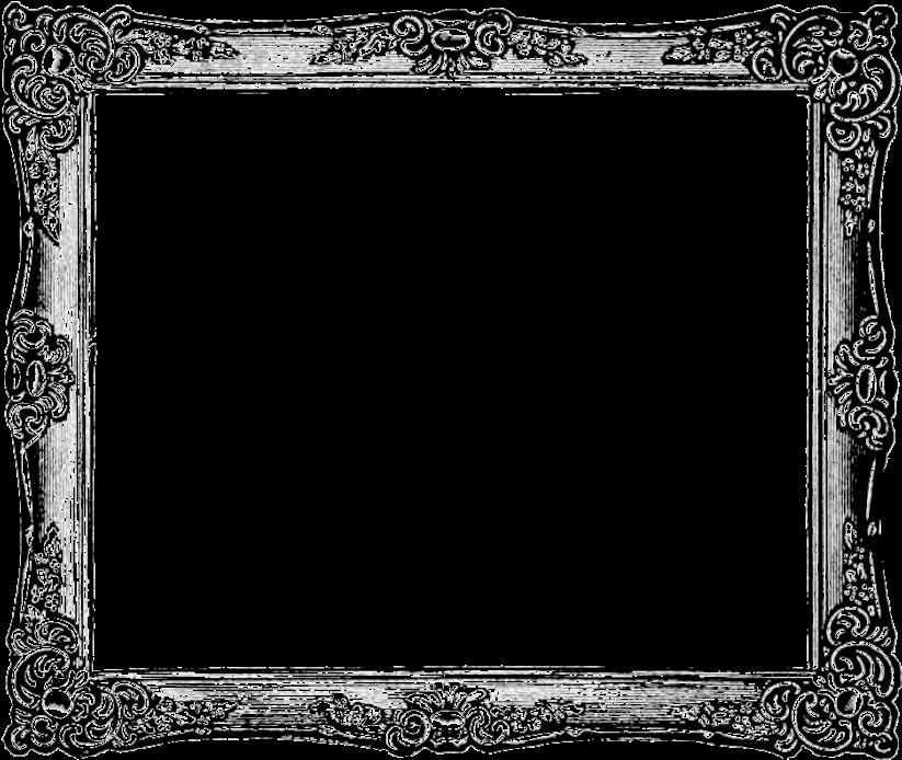 HD Vintage Frame Png Transparent Image.