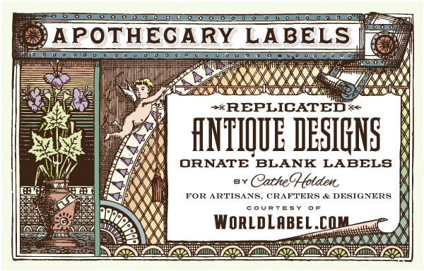 Ornate Apothecary Blank Labels by Cathe Holden.