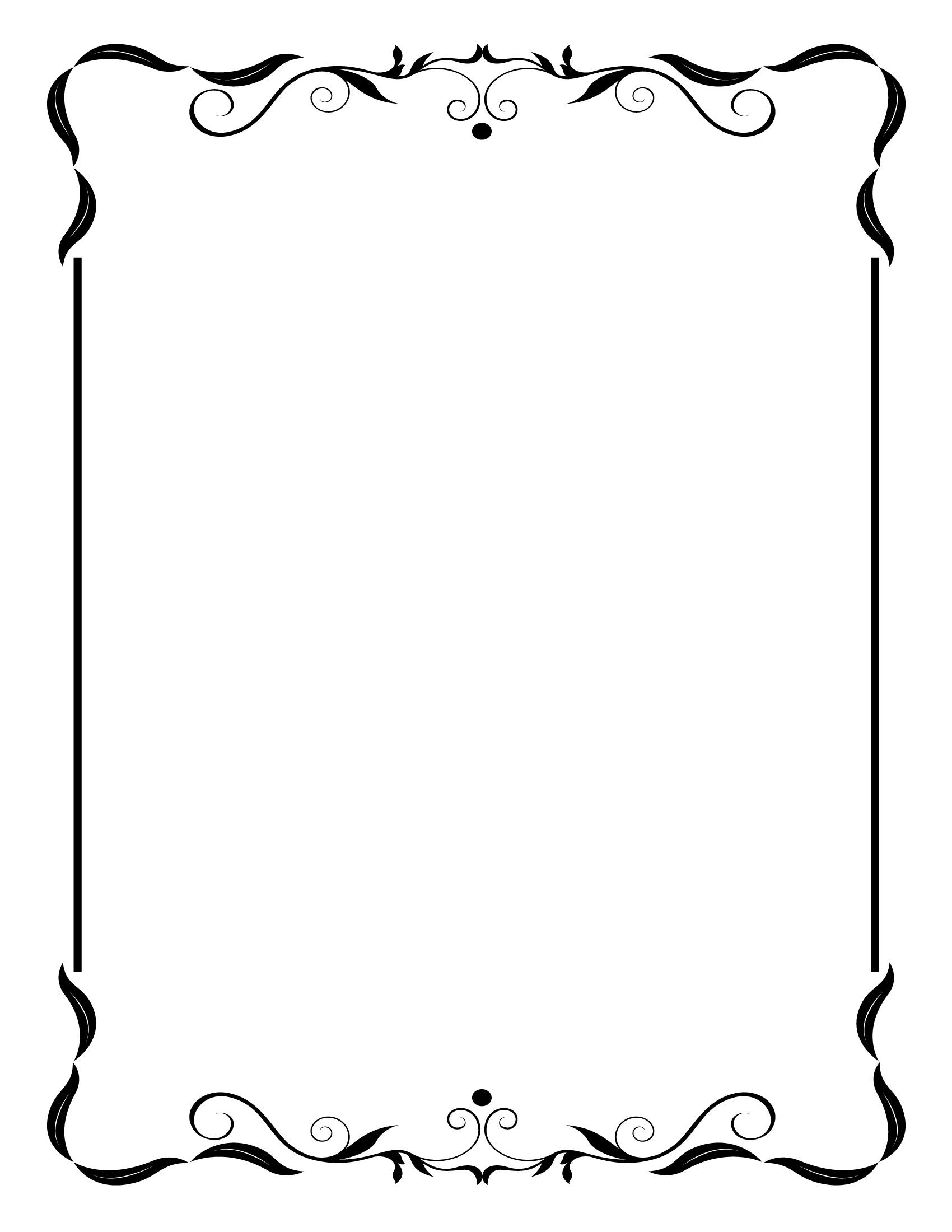 Simple Vintage Frame Border Clip Art N2 free image.