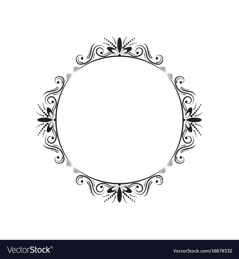 Round elegant vintage frame.