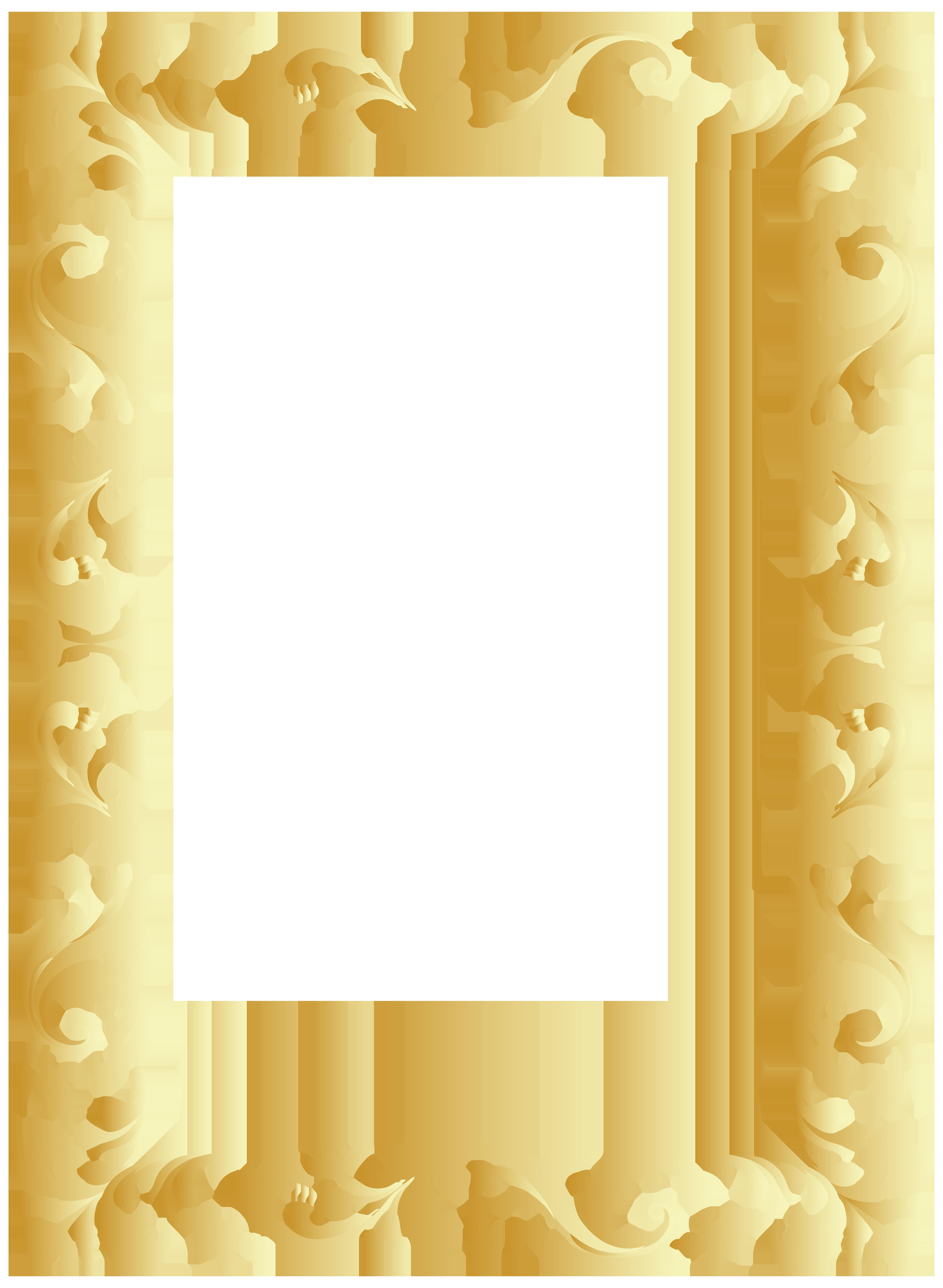 Vintage Border Frame Clip Art PNG Image.