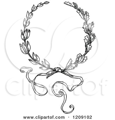 Vintage Christmas Bow Clipart.