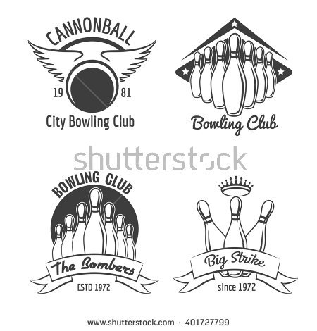 Vintage Bowling Stock Images, Royalty.