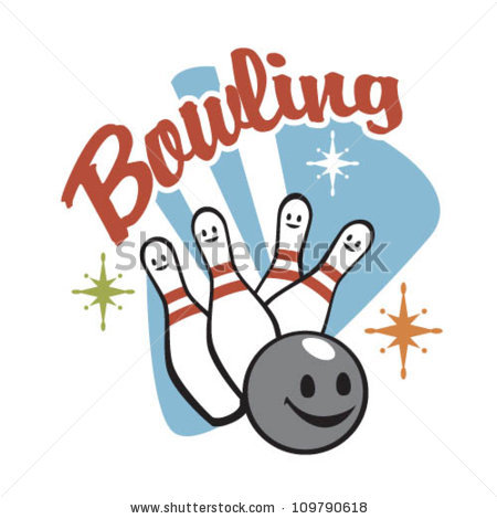 Retro Bowling Stock Images, Royalty.
