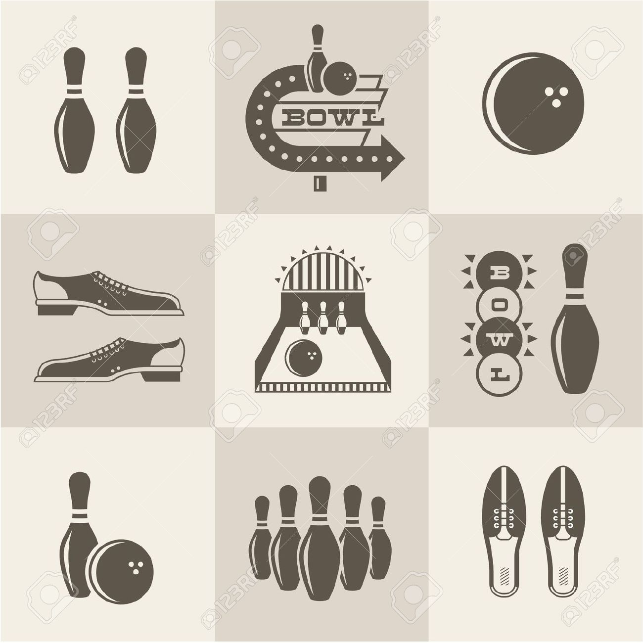 1,137 Vintage Bowling Cliparts, Stock Vector And Royalty Free.