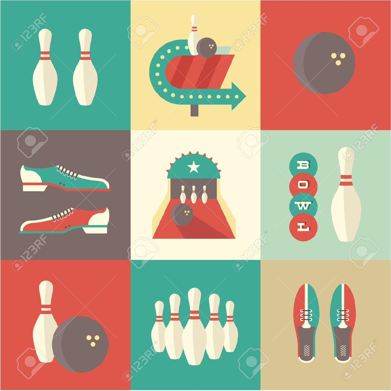 770 Bowling Shoes Cliparts, Stock Vector And Royalty Free Bowling.