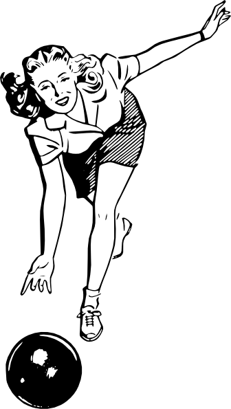 Female Vintage Bowler Clip Art at Clker.com.