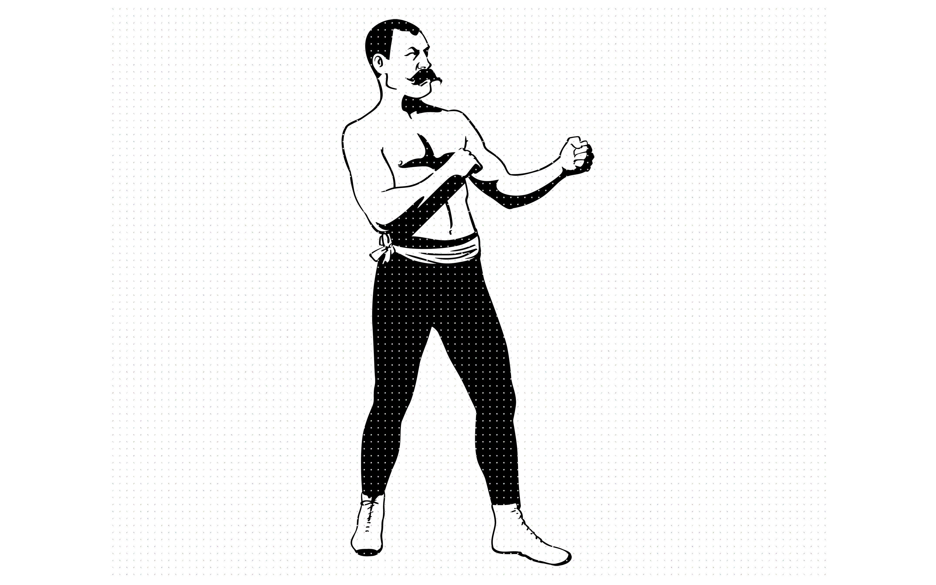 vintage, mustache, boxer, fighter svg, dxf, vector, eps.
