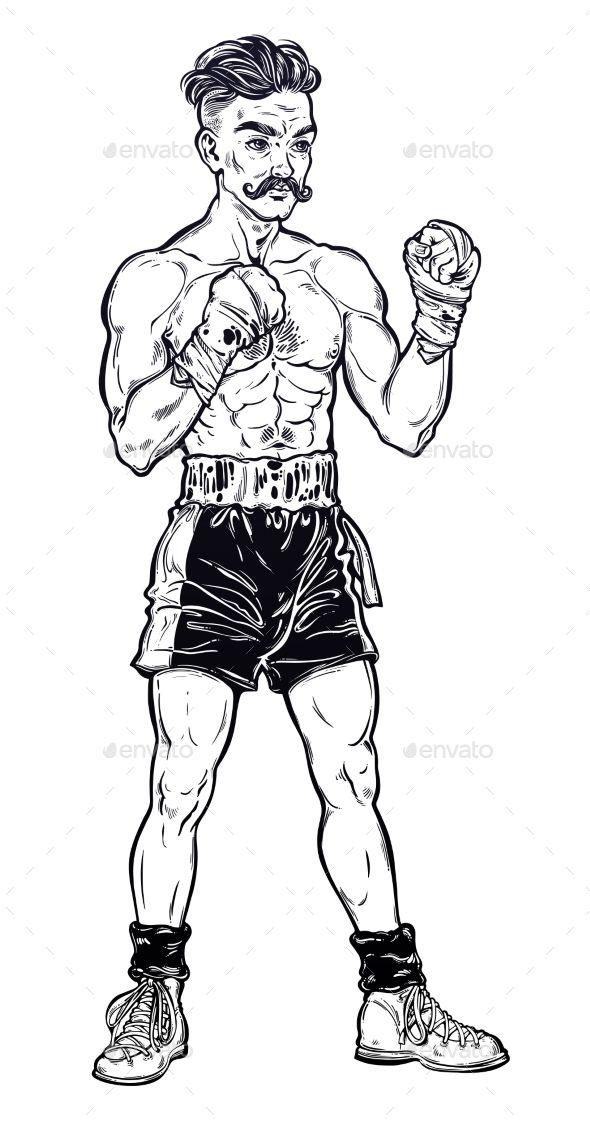 Boxer clipart vintage, Boxer vintage Transparent FREE for.