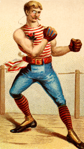 Vintage boxing.