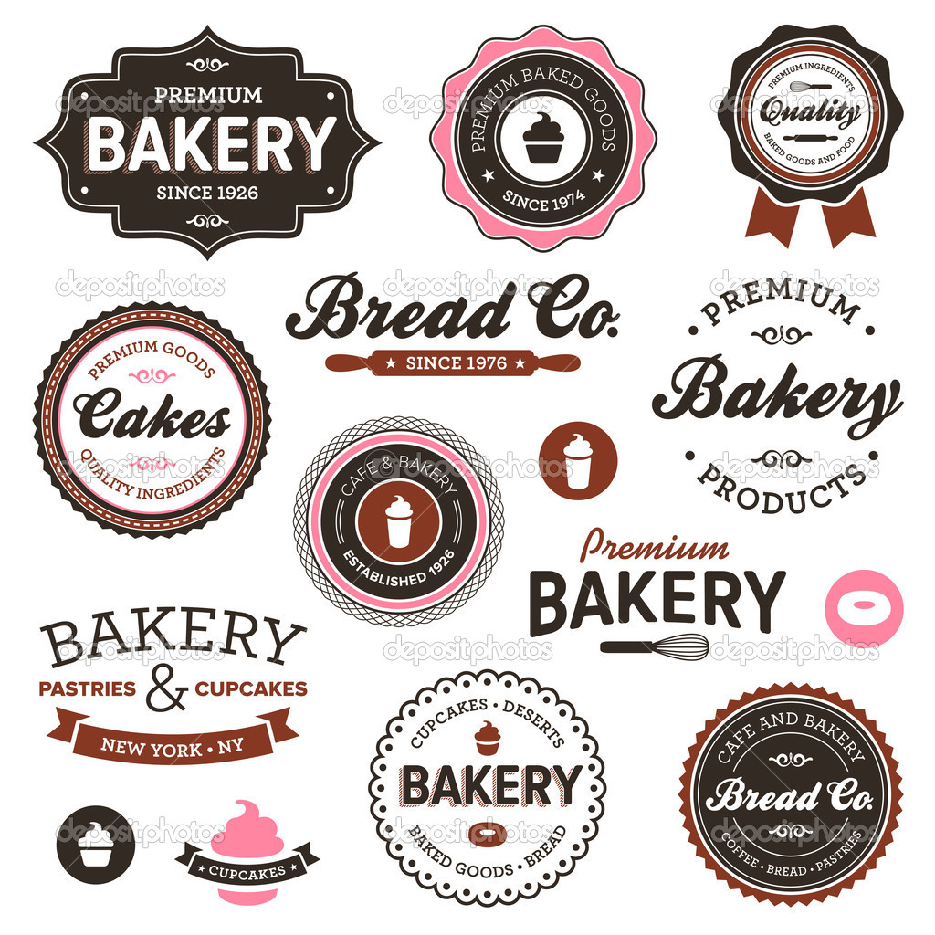 Clipart of the Vintage Bakery Labels free image.
