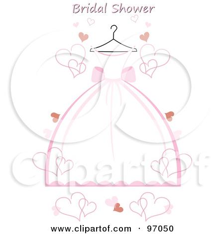 Bridal Shower Dress Clipart