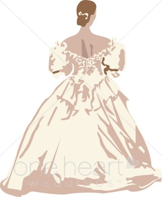 Antique Gown Clipart.