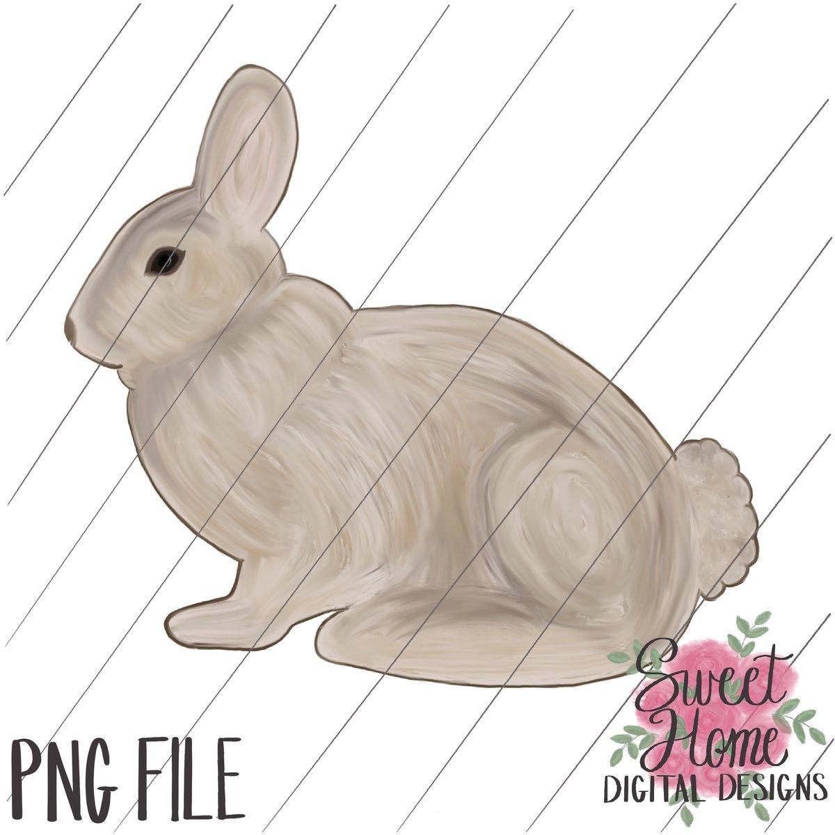 Vintage Easter Bunny PNG Printable.