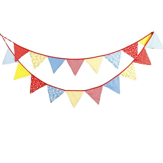 1pc/18 flags Vintage Fabric Bunting.