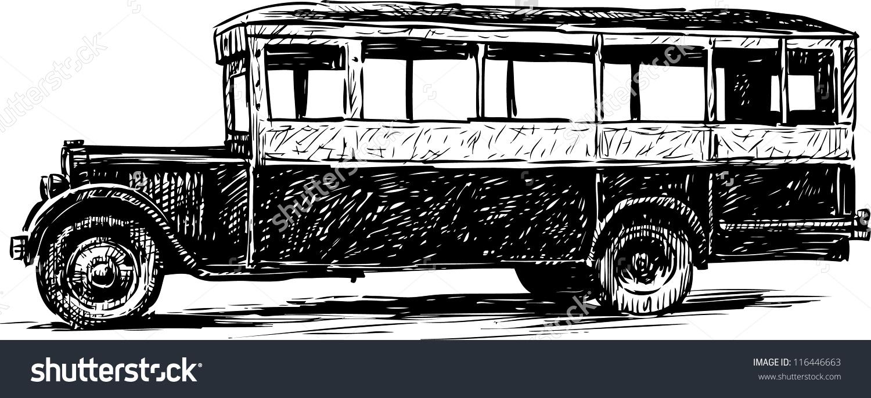 Vintage Bus Clipart.